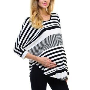 Bellino Maternity Striped Dolman Top